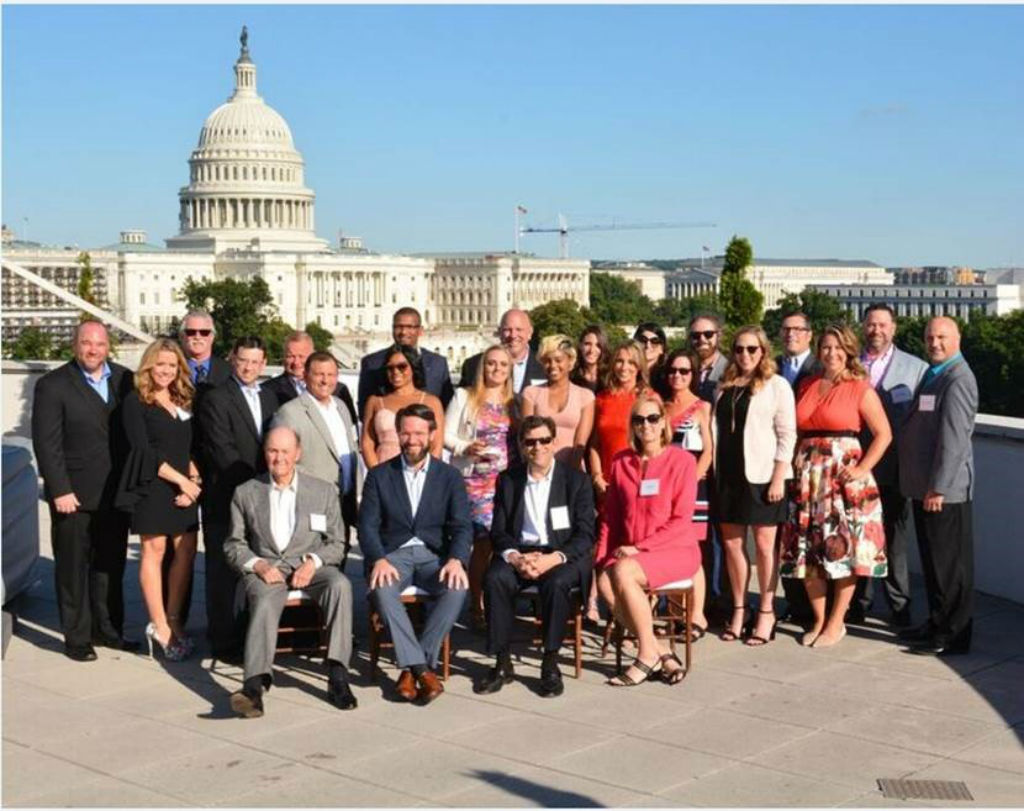 Group shot of 1870 Society winners in Washington, D.C.