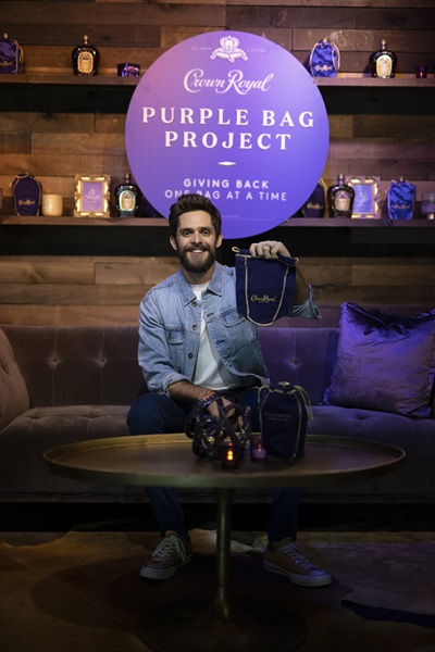 7ab44e5a Crown Royal and Thomas Rhett Give Back with Purple Bag Project ...