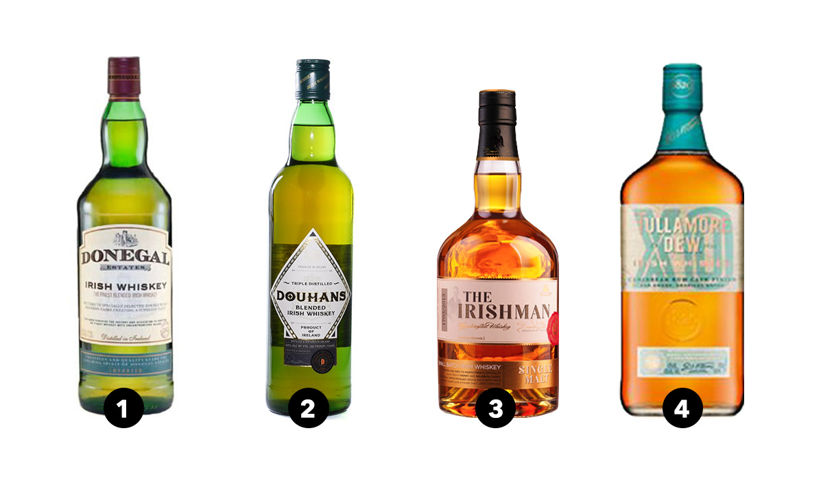 Donegal Estates, Douhans, The Irishman Single Malt Whiskey, Tullamore D.E.W. Rum Cask