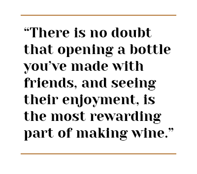 enjoy wine with friends quote