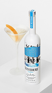 Belvedere limited-edition bottle with cocktail