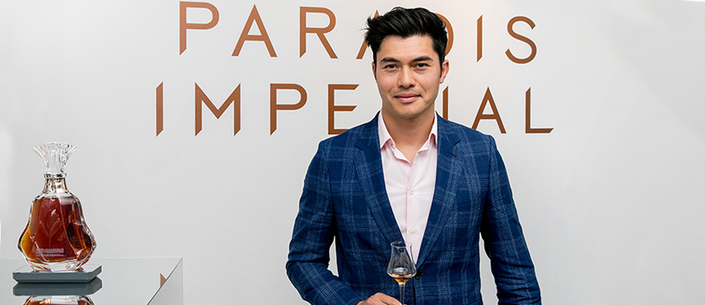 Henry Golding with Paradis Imperial