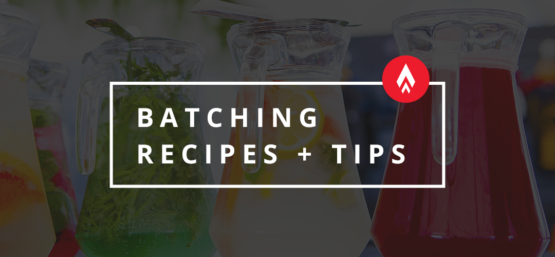 batching recipes and tips
