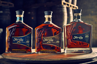 Three bottles of Flor de Caña rum