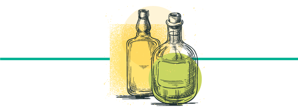 illustrated image of mezcal bottles