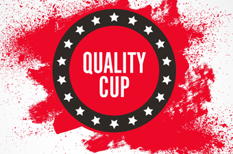 "Logo with words ""Quality Cup"""